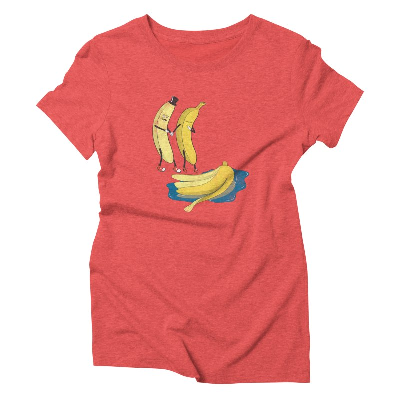 Banana Gentleman Women's Triblend T-shirt by hristodonev's Artist Shop