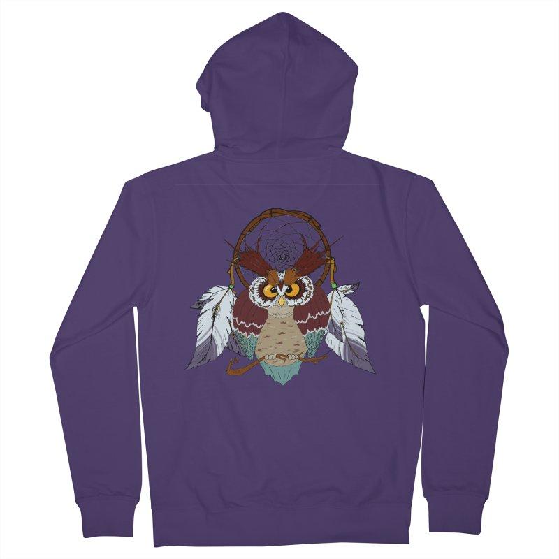 Dream Owl Women's Zip-Up Hoody by hristodonev's Artist Shop
