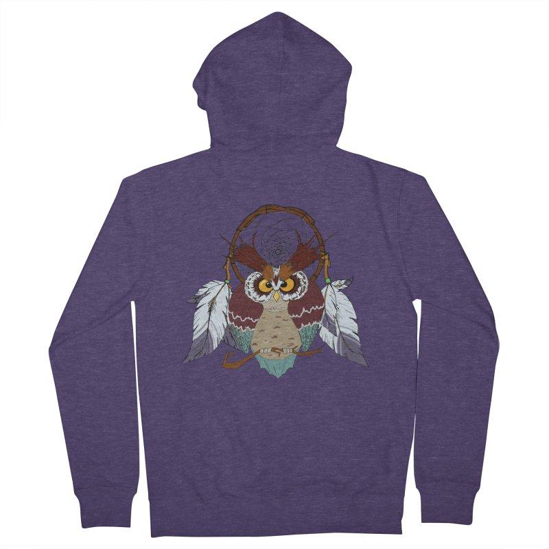 Dream Owl Men's Zip-Up Hoody by hristodonev's Artist Shop