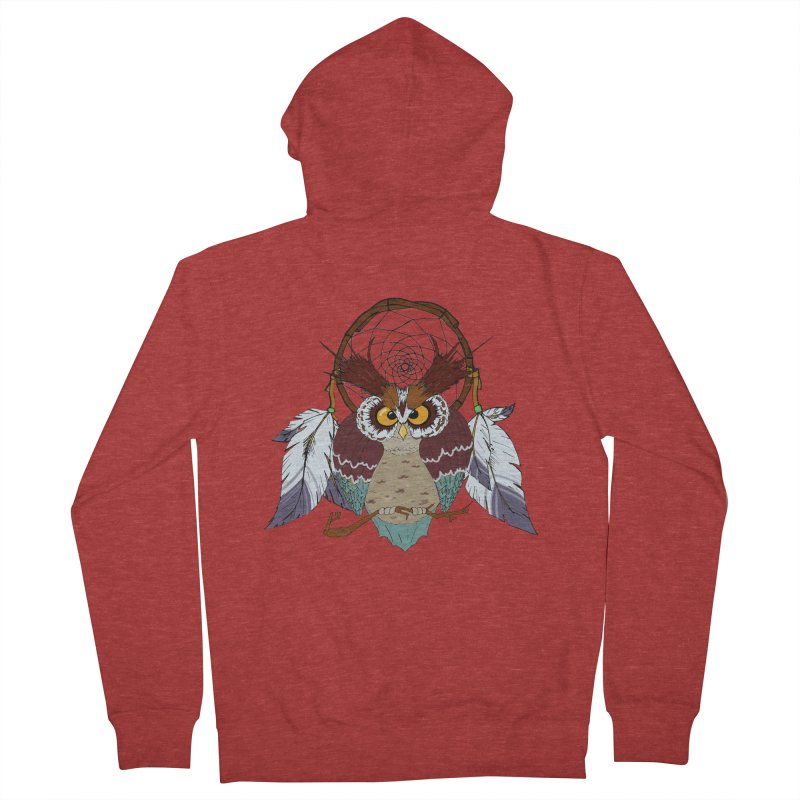 Dream Owl Men's Zip-Up Hoody by hristodonev's Artist Shop