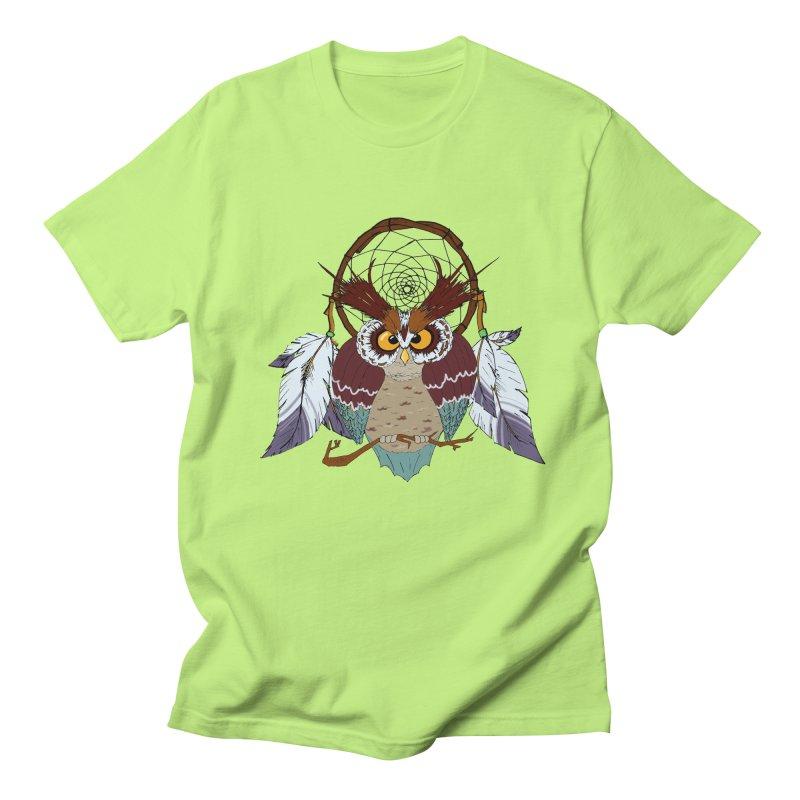 Dream Owl Men's T-Shirt by hristodonev's Artist Shop