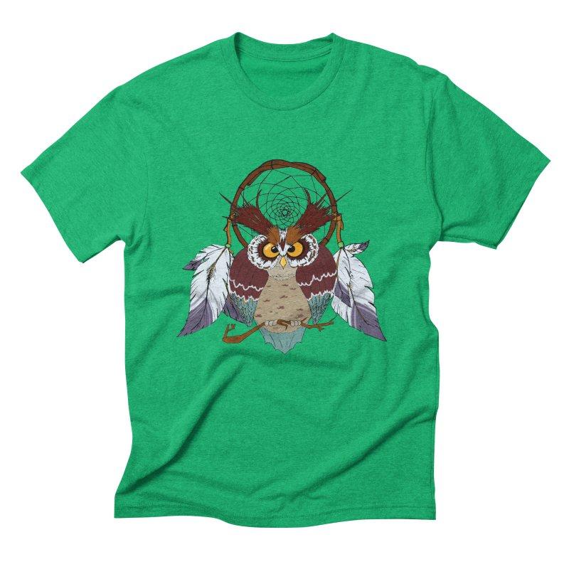 Dream Owl Men's Triblend T-shirt by hristodonev's Artist Shop
