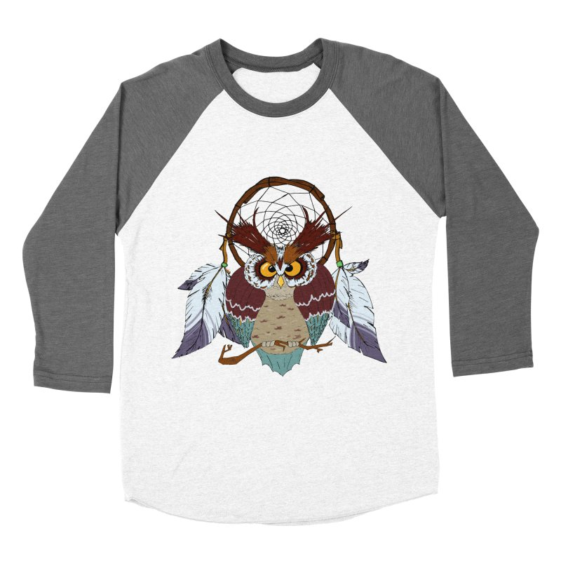 Dream Owl Women's Baseball Triblend Longsleeve T-Shirt by Hristo's Shop