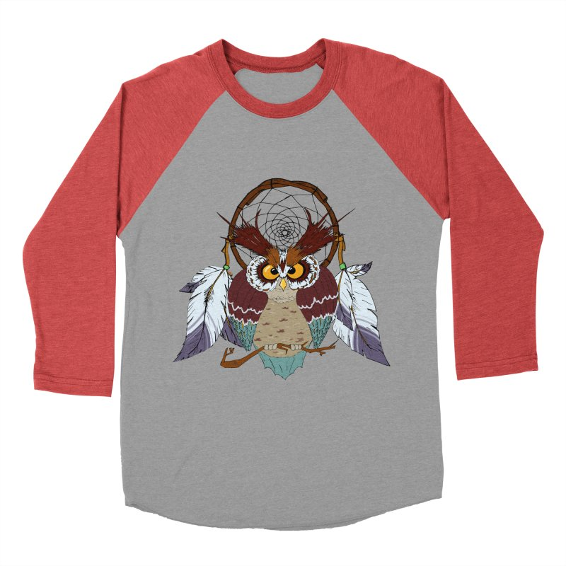 Dream Owl Women's Baseball Triblend Longsleeve T-Shirt by Hristo's Shop