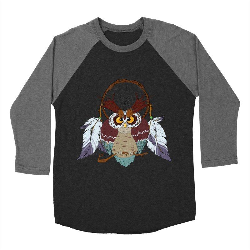 Dream Owl Women's Baseball Triblend T-Shirt by hristodonev's Artist Shop