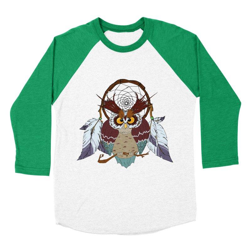 Dream Owl Men's Baseball Triblend T-Shirt by hristodonev's Artist Shop