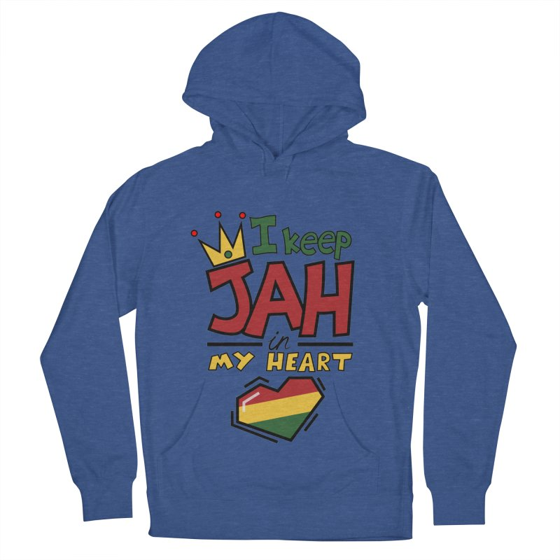 I keep Jah in my Heart Men's French Terry Pullover Hoody by Hristo's Shop