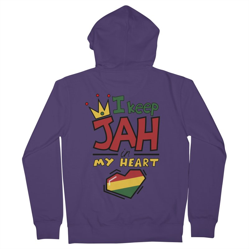 I keep Jah in my Heart Women's French Terry Zip-Up Hoody by Hristo's Shop