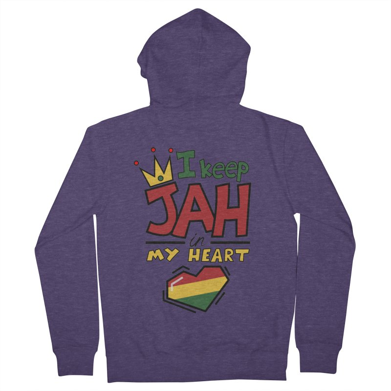 I keep Jah in my Heart Men's Zip-Up Hoody by Hristo's Shop