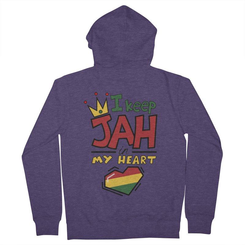 I keep Jah in my Heart Men's Zip-Up Hoody by hristodonev's Artist Shop