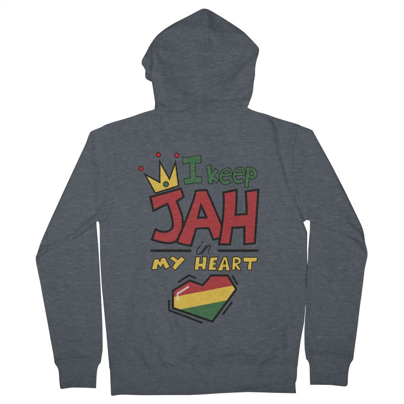 I keep Jah in my Heart Men's French Terry Zip-Up Hoody by Hristo's Shop