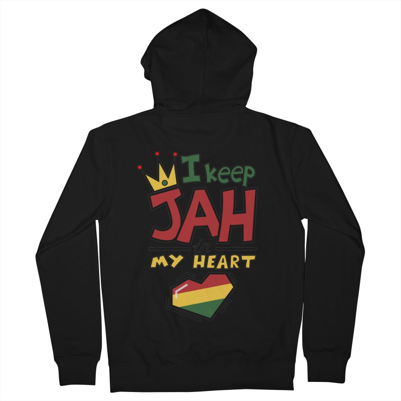 I keep Jah in my Heart Men's Zip-Up Hoody by hristodonev's Artist Shop