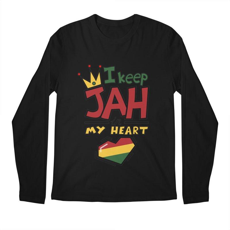 I keep Jah in my Heart Men's Regular Longsleeve T-Shirt by Hristo's Shop