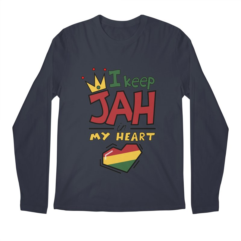 I keep Jah in my Heart Men's Regular Longsleeve T-Shirt by Hristo's Shop