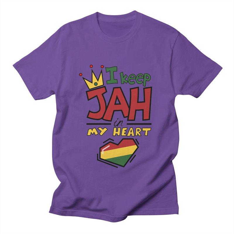I keep Jah in my Heart Men's T-Shirt by hristodonev's Artist Shop