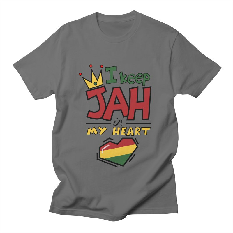 I keep Jah in my Heart Men's Regular T-Shirt by Hristo's Shop