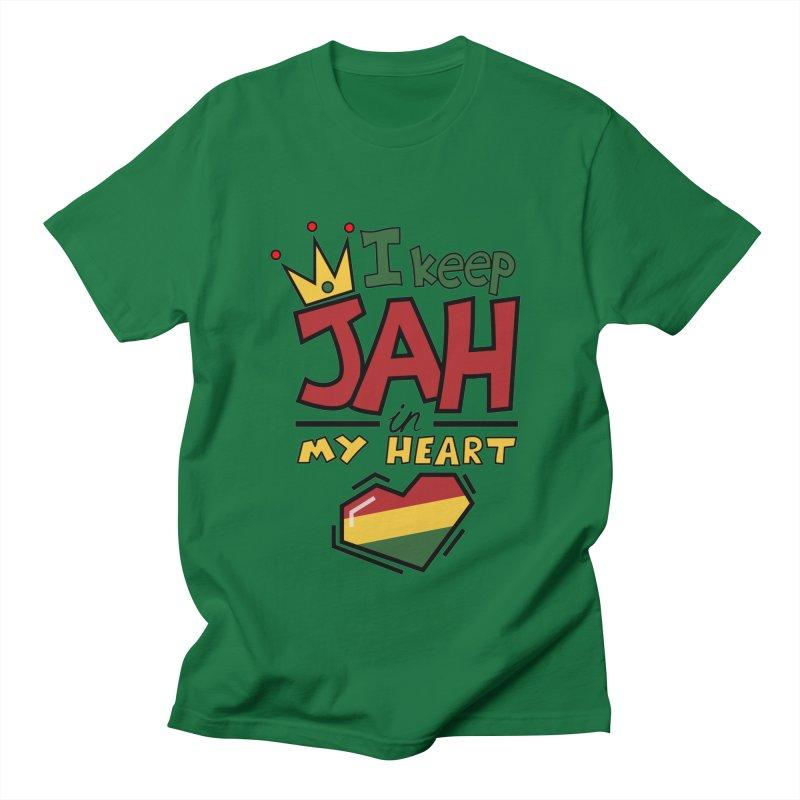 I keep Jah in my Heart Men's Regular T-Shirt by Hristo's Shop