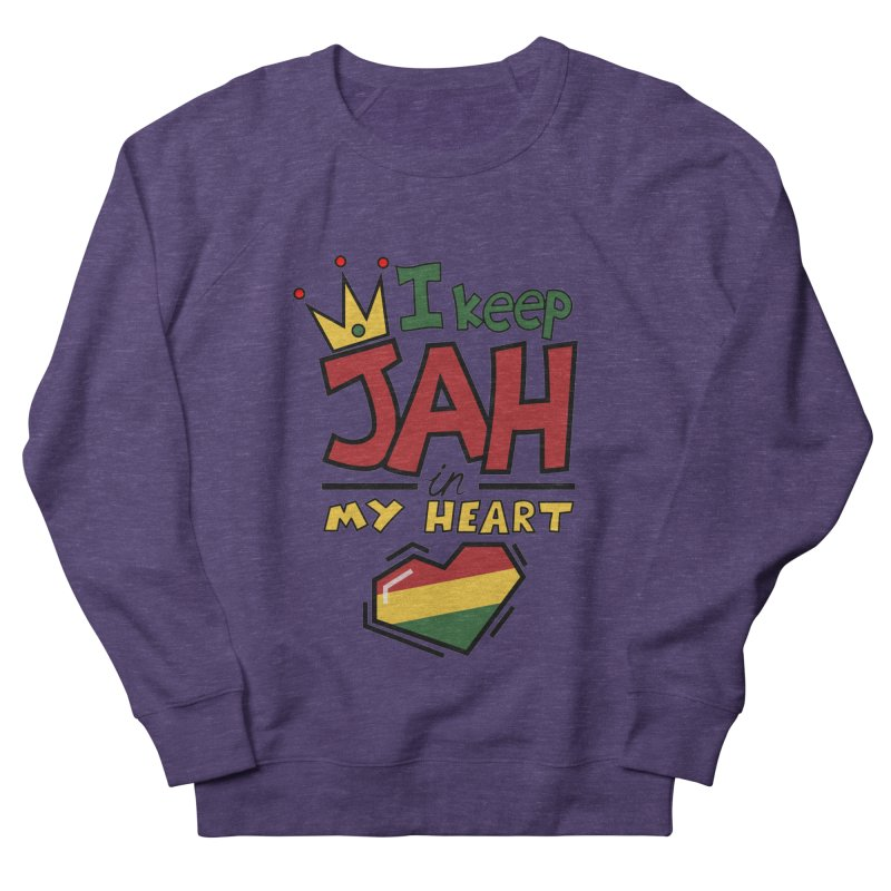 I keep Jah in my Heart Men's French Terry Sweatshirt by Hristo's Shop