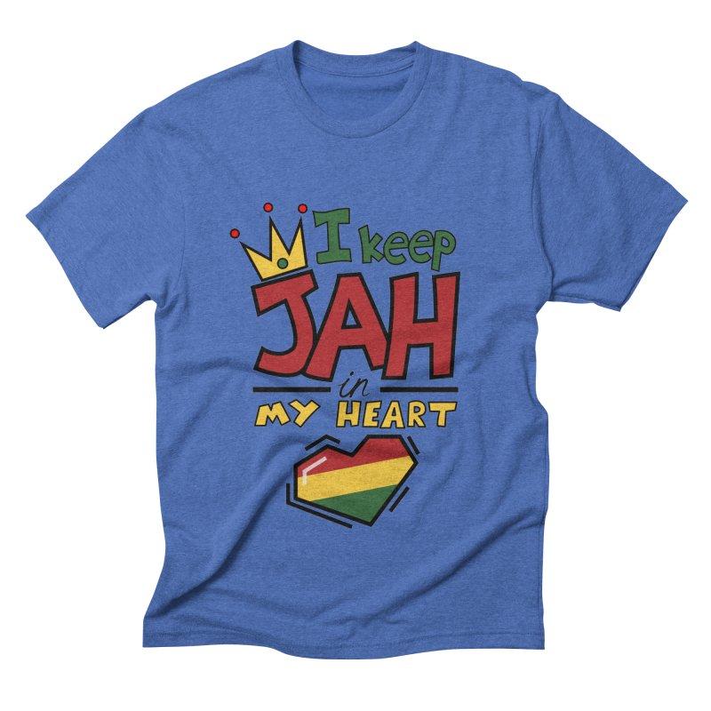 I keep Jah in my Heart Men's Triblend T-shirt by hristodonev's Artist Shop