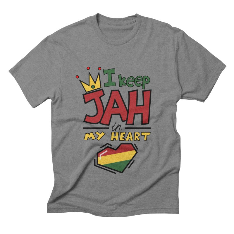 I keep Jah in my Heart Men's Triblend T-Shirt by Hristo's Shop