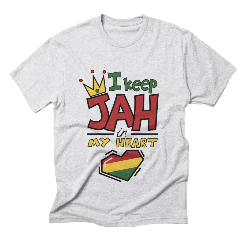 I keep Jah in my Heart Men's Triblend T-Shirt by hristodonev's Artist Shop