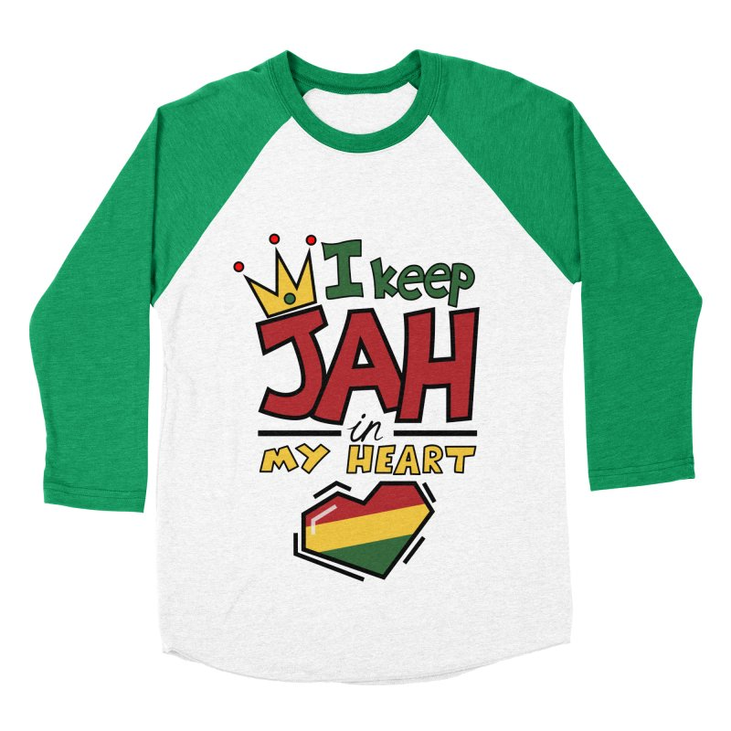 I keep Jah in my Heart Women's Baseball Triblend Longsleeve T-Shirt by Hristo's Shop