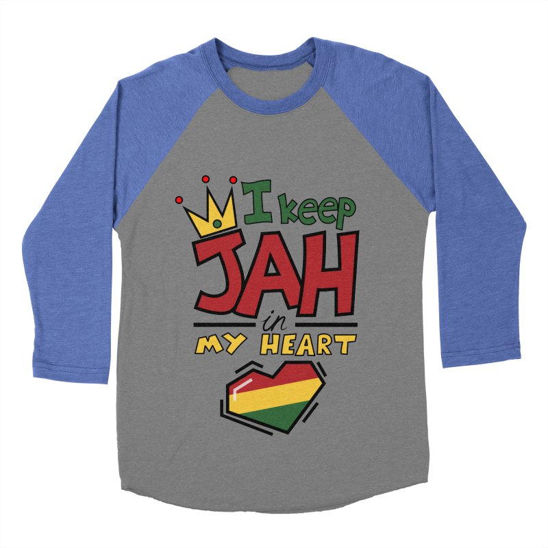 I keep Jah in my Heart Women's Baseball Triblend Longsleeve T-Shirt by Hristo's Shop