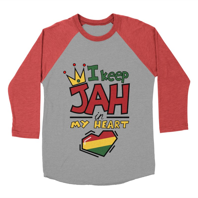 I keep Jah in my Heart Men's Baseball Triblend Longsleeve T-Shirt by Hristo's Shop
