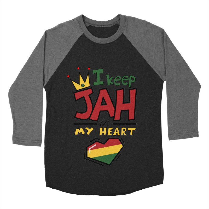 I keep Jah in my Heart Men's Baseball Triblend T-Shirt by Hristo's Shop