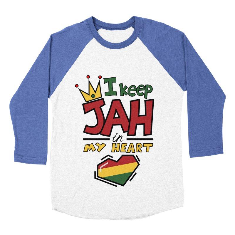 I keep Jah in my Heart Men's Baseball Triblend T-Shirt by hristodonev's Artist Shop