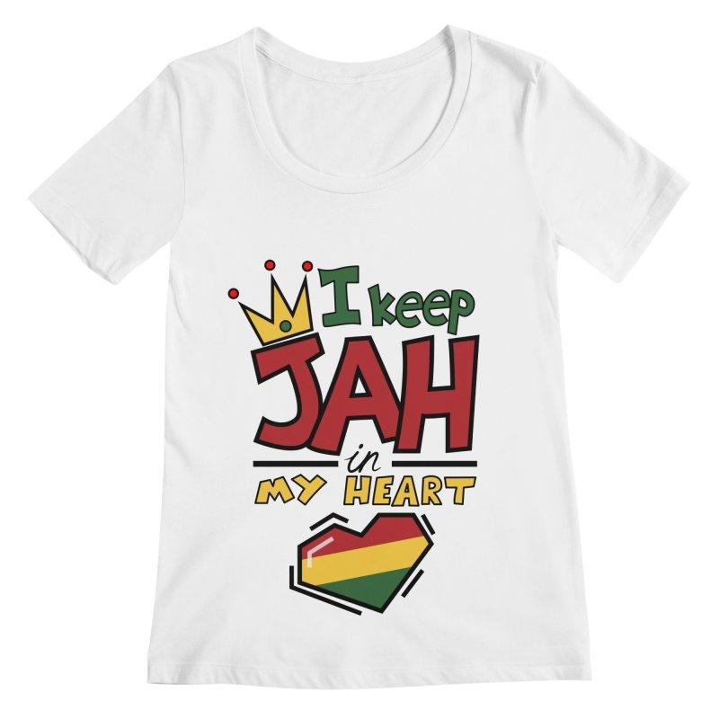I keep Jah in my Heart Women's Regular Scoop Neck by Hristo's Shop