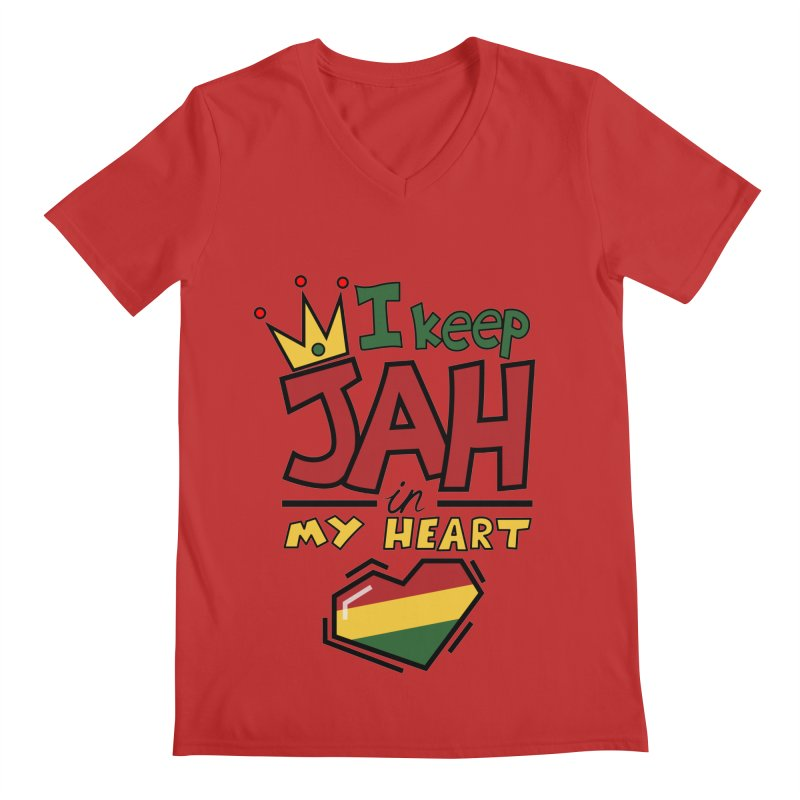I keep Jah in my Heart Men's V-Neck by Hristo's Shop