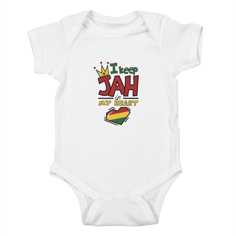 I keep Jah in my Heart Kids Baby Bodysuit by Hristo's Shop