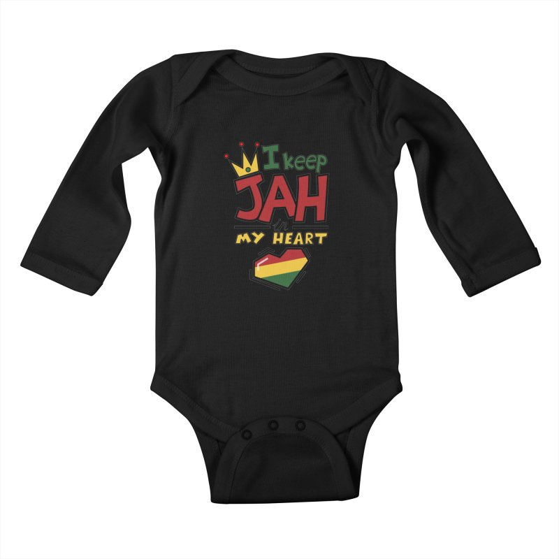 I keep Jah in my Heart Kids Baby Longsleeve Bodysuit by Hristo's Shop