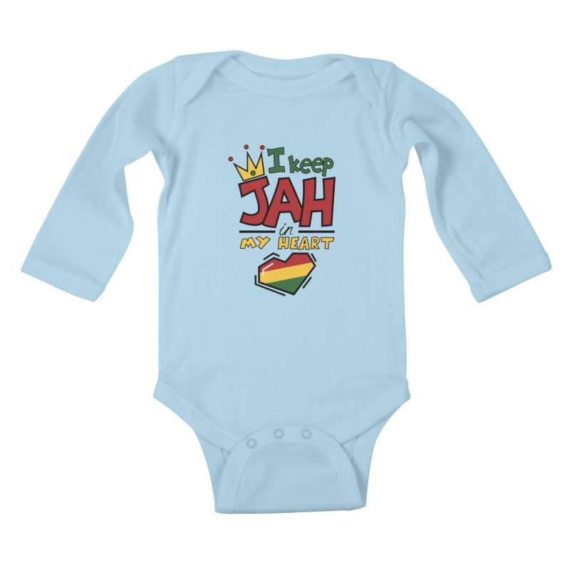 I keep Jah in my Heart Kids Baby Longsleeve Bodysuit by hristodonev's Artist Shop