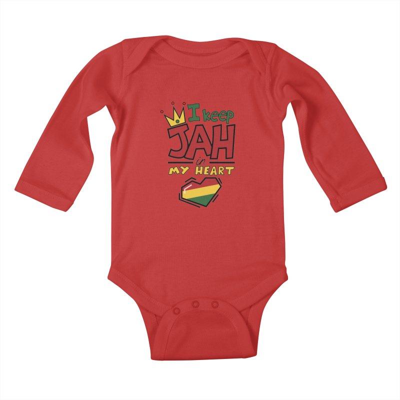 I keep Jah in my Heart Kids Baby Longsleeve Bodysuit by hristodonev's Artist Shop