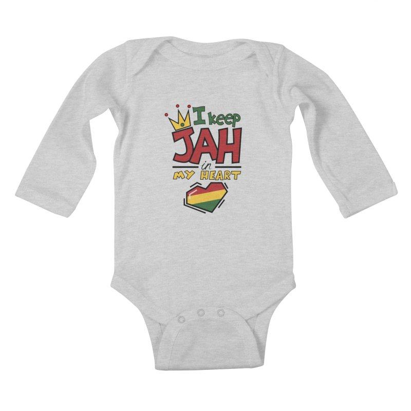 I keep Jah in my Heart Kids Baby Longsleeve Bodysuit by Hristo's Shop