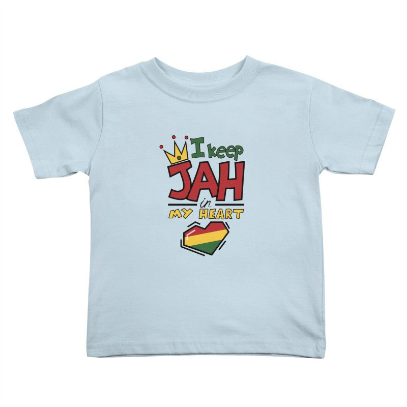 I keep Jah in my Heart Kids Toddler T-Shirt by Hristo's Shop