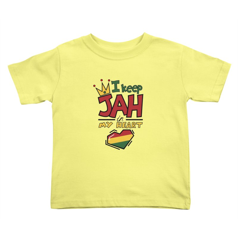 I keep Jah in my Heart Kids Toddler T-Shirt by hristodonev's Artist Shop