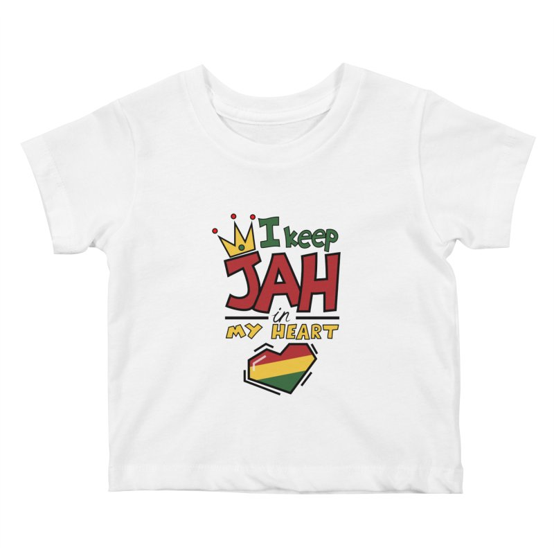 I keep Jah in my Heart Kids Baby T-Shirt by Hristo's Shop