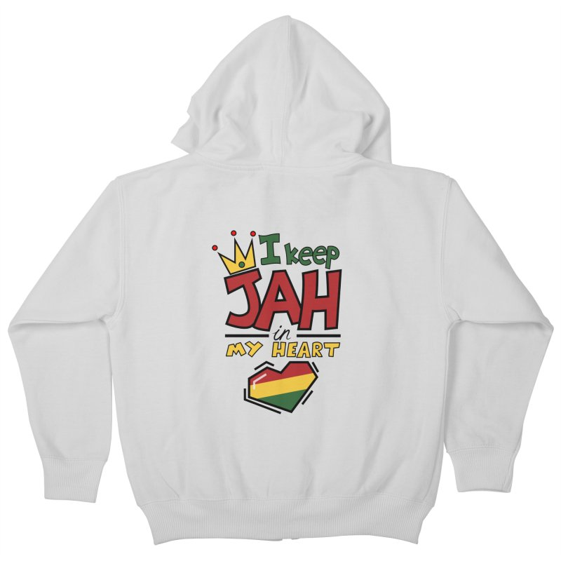 I keep Jah in my Heart Kids Zip-Up Hoody by Hristo's Shop