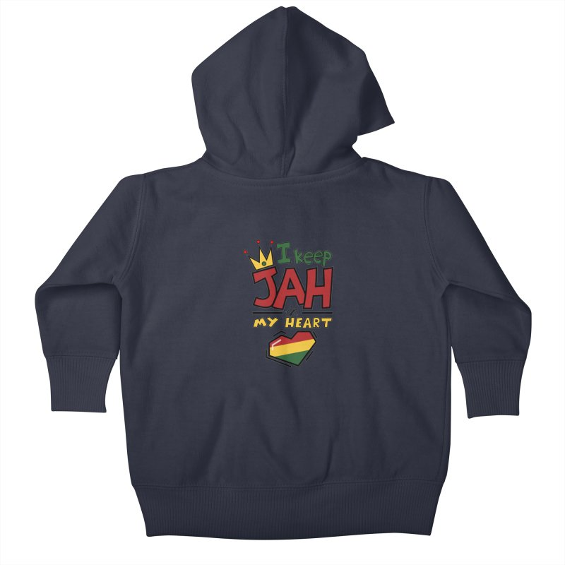 I keep Jah in my Heart Kids Baby Zip-Up Hoody by Hristo's Shop