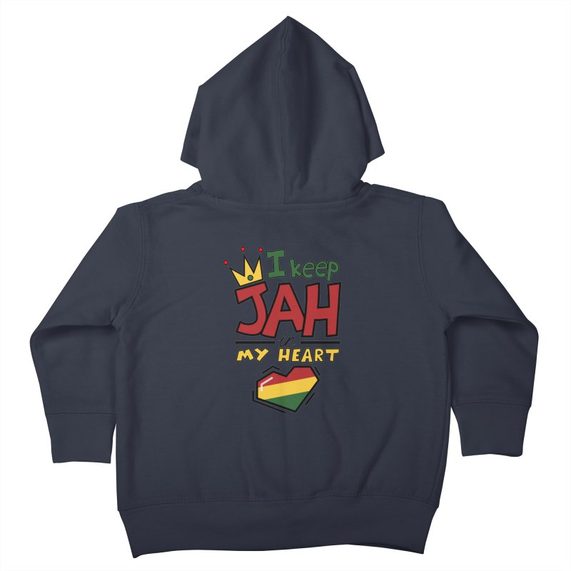 I keep Jah in my Heart Kids Toddler Zip-Up Hoody by hristodonev's Artist Shop