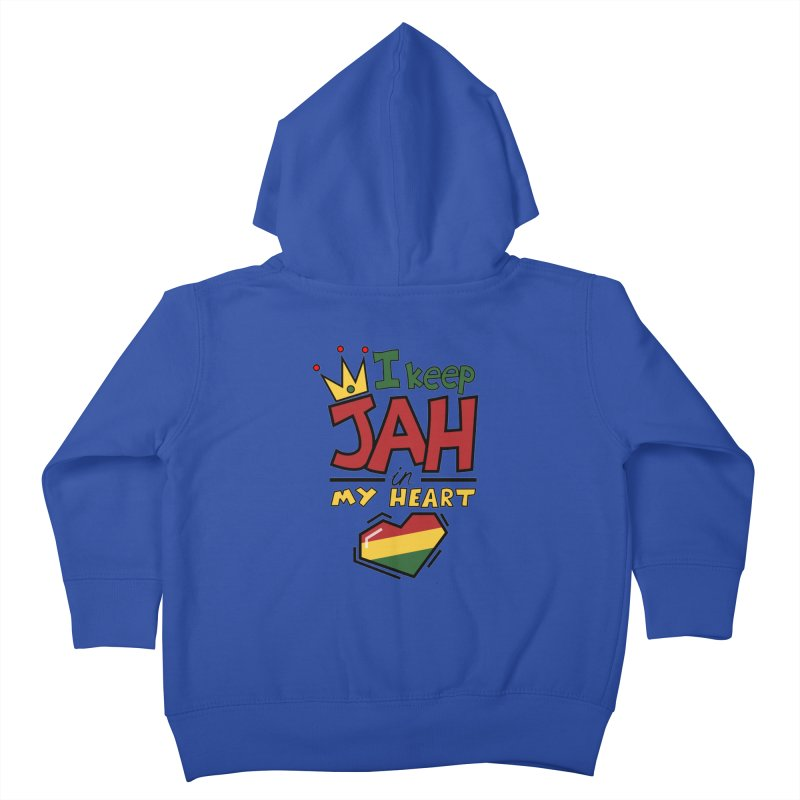 I keep Jah in my Heart Kids Toddler Zip-Up Hoody by Hristo's Shop