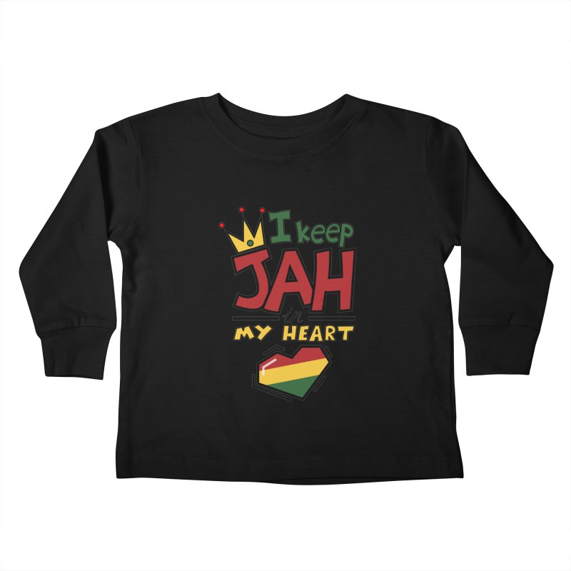 I keep Jah in my Heart Kids Toddler Longsleeve T-Shirt by hristodonev's Artist Shop