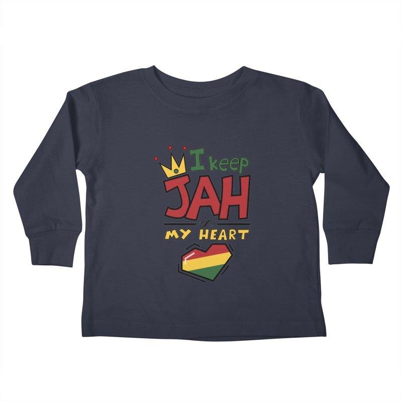 I keep Jah in my Heart Kids Toddler Longsleeve T-Shirt by Hristo's Shop
