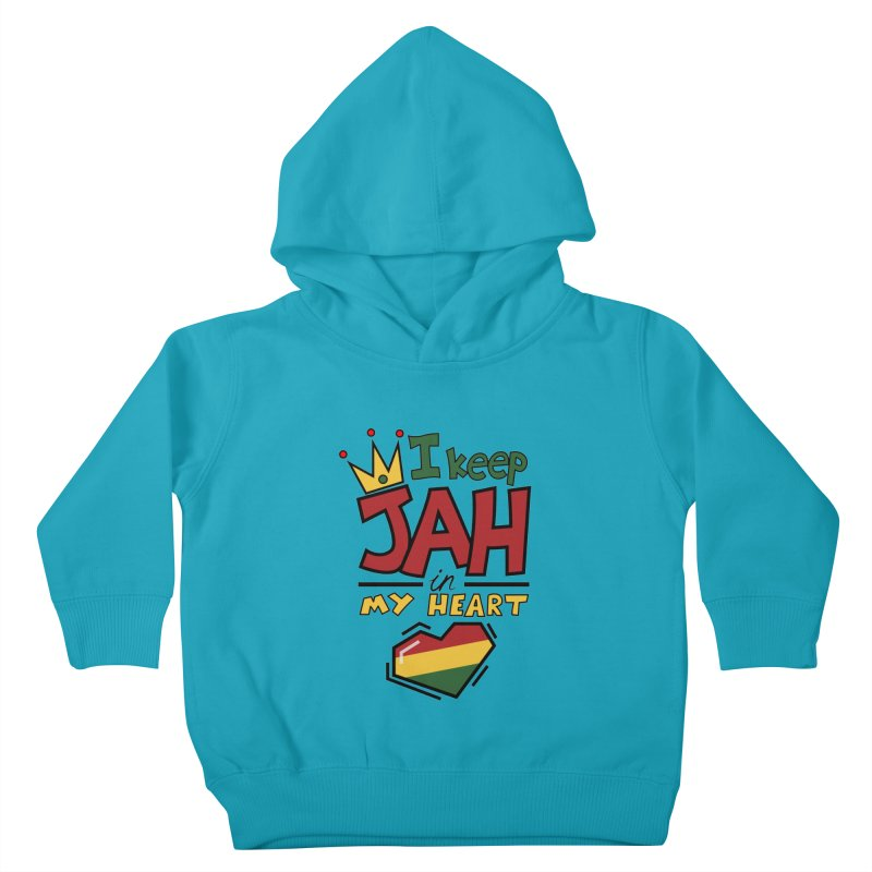 I keep Jah in my Heart Kids Toddler Pullover Hoody by hristodonev's Artist Shop