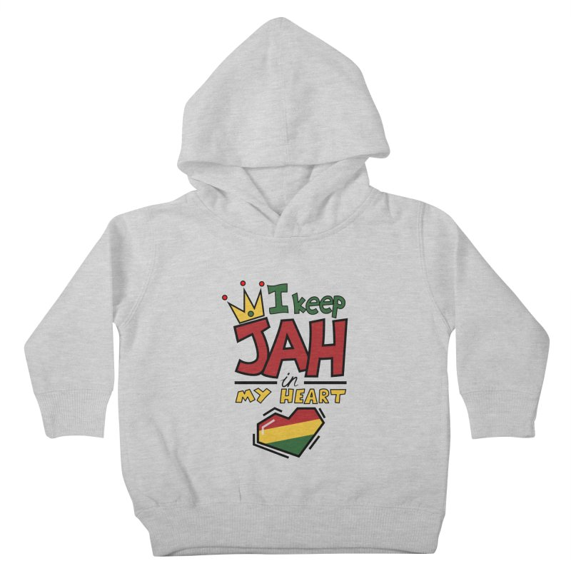 I keep Jah in my Heart Kids Toddler Pullover Hoody by Hristo's Shop