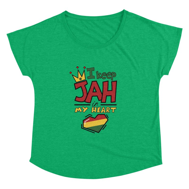 I keep Jah in my Heart Women's Dolman by hristodonev's Artist Shop