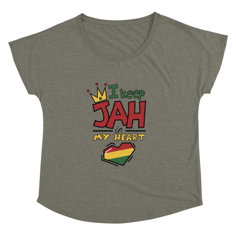 I keep Jah in my Heart Women's Dolman by Hristo's Shop